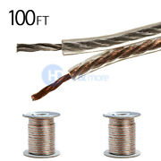 2x 100 Ft Feet True 12 Gauge Awg Speaker Wire Cable Car Home Audio 2 Conductor