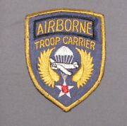 Wwii British Made Embroidered On Silk Airborne Troop Carrier Patch Felt Back
