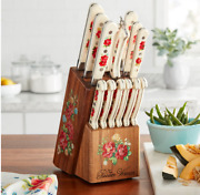Pioneer Woman Frontier Collection 14-piece Cutlery Set With Wood Block