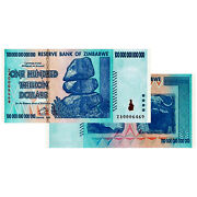 100 Trillion Zimbabwe Banknotes 2008 Uncirculated - Za Series Replacement Note