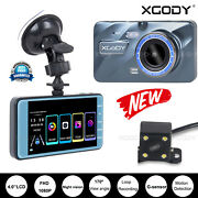 4 Touch Screen Dual Lens Dash Cam Front And Rear Camera Video Recorder Car Dvr