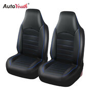 Car Seat Cover Faux Leather High Quality Cushion - Universal Pu Black Protectors