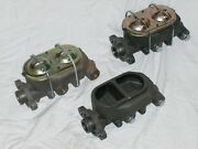 Lot Of 3 Street Rod Master Cylinders Universal Gm 9/16 1/2 For Parts Repair