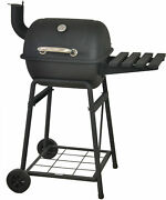 Outdoor Bbq Grill Charcoal Pit Patio Backyard Meat Cooker Smoker Gauge Stainless