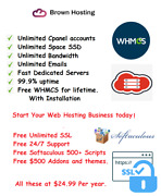 Reseller Web Hosting Cloud Servers Fast Ssd Cpanel/whm Free Whmcs
