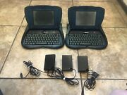 2x Vintage Apple Newton Emate 300 Laptop Computers 3x Power Adapters