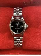 Rolex Ss Womenand039s 26mm Oyster Perpetual Date Just 6517 Automatic Watch