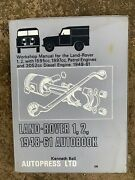 Land Rover Series 1 And 2 I And Ii Workshop Manual By Autodata.