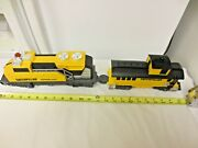 2pc Toy State Industries Caterpillar Express Toy Plastic Train Set-loco,caboose