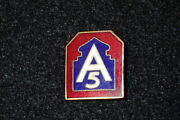 Wwii Us 5th Fifth Army Di Dui Crest Enamel War-time Original N. Africa And Italy
