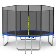 14ft Trampolinesafety Net With Zipper Ladder 330lbs Roomy Jumping Space Kid