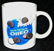 Oreo Collectable How Do You Eat Oreo Bite It Dunk Twist Lick Cup Mug.