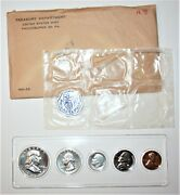 1958 Silver 5 Coin Us Mint Proof Set High Grade Rare Bright And Shiny