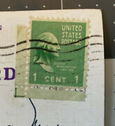 George Washington 1 One Cent Stamp 1732-1932 Green Looking Right On Postcard