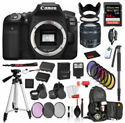 Canon Eos 90d Digital Slr Camera With Ef-s 18-55mm Is Stm Lens 3616c009