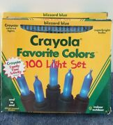 Crayola Christmas Lights Lot 11 100ct Sets White, Red, Blue, Gold, Pink