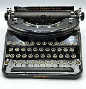 Remington Noiseless Portable Typewriter Early 1930and039s / N43582 Case