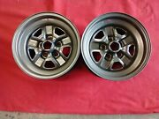 1968-1977 Oldsmobile Olds Cutlass 442 Hurst Ssii Rally Wheels 15x7 Pair 72 70 69