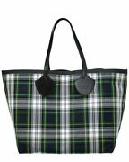 Tartan Canvas And Leather Tote Womenand039s