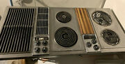 """Jenn Air 47"""" Downdraft Electric Cooktop Stainless 3 Bay W/ Grill And Griddle C301"""