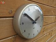 Vintage Wall Clock Gent Of Leicester. Restored And Updated. Battery Powered.