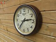 Vintage Bakelite Smith Sectric Wall Clock. Lovely Patina. Restored And Updated