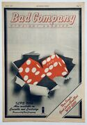 Bad Company 1976 Original Poster Advert Straight Shooter Paul Rodgers