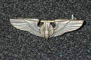 Wwii Usaac Army Air Corps Bombardiers Badge Wings 1.5 Inch Early Coin Silver V
