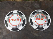 2 Oem 1973-87 Gmc 2wd 1/2 Ton Truck Dog Dish Poverty Hubcaps Wheel Covers