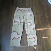 Us Army Military Trousers Pants Combat Desert Camo Sz Med Regular Free Shiping
