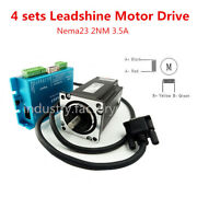 4 Axis Leadshine Nema23 2nm Hybrid Closed Loop Stepper Motor Driver Cnc Router