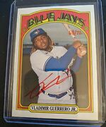 2021 Topps Heritage Real One Autograph Red Ink 68/72 Vladimir Guerrero Jr. Rare