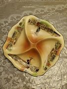 Scarce Royal Doulton Dickensware 10x10 Hors Dand039oeuvre Dish Excellent