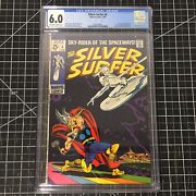 Silver Surfer 4 1969 Cgc 6.0 Fn Classic Buscema Cover Stan Lee Story Thor Loki