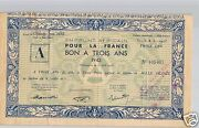 Aof Step African 1 000 Francs 15 June 1943 Rare