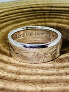 Hand Crafted 1933 Switzerland 5 Francs Silver Coin Ring, Weight12g Sizez