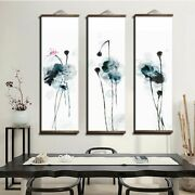 Japanese Ink Flower Animal Canvas Wood Scroll Paintings And Posters Decorations