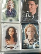 Buffy The Vampire Slayer Sighed Autographed Trading Card Albums Tv Show Lot 425+