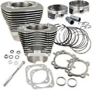 Sands Cycle 117in. Big Bore Kit - Silver Powder-coat - 910-0221