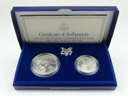 1993 Us Bill Of Rights 2-coin Commemorative Uncirculated Set W/all Boxes And Coa