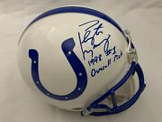 Peyton Manning Signed Rookie Style Colts Authentic Helmet W/ 98 1 Pick Fanatics