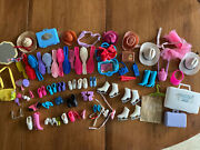 Vintage Barbie Accessories Lot Shoes Boots Combs Brushes Hats Mirror Travel