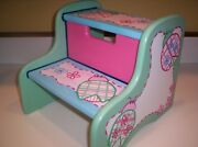 Childrenand039s Hand Painted Girls Wooden Step Stool Ladybugs Baby Nursery