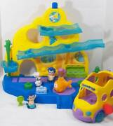 Fisher Price Bubble Guppies Swim-sational School, Mr. Grouper Bus And Roller Fig
