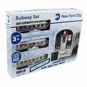 New York Mta New York City 3 Pc. Battery Operated Train Set With Track 39 X 25