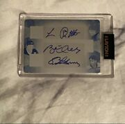 Luc Robitaille, Brett Hull, Eric Lindros Printing Plate Auto 1/1