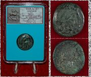 Ancient Greek Coin Thrace Odessos Zeus And God Of Odessos On Horseback