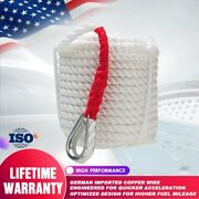 3/4x150and039 Twisted 3 Strand Nylon Anchor Rope Braided Boat With Thimble 19mm45m
