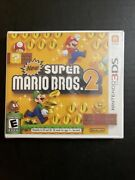 New Super Mario Bros 2 Nintendo 3ds 1st Print White Case New Sealed Ships Fast