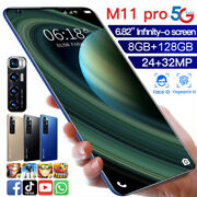 M11pro 6.82and039and039 Android 10.1 Mobile Smart Phone 8gb+128gb 10 Core Dual Sim Card
